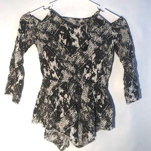 Other - NWT Flowers By Zoe cold shoulder romper